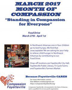 March Month of Compassion Food Drive